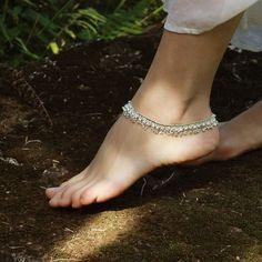 Silver charm anklet with Bells, Boho Jewellery, Belly Dancing, Beach shoes Bohemian party Sold separately Style: 'Bond of Love Anklet Ankle Jewelry, Ankle Bracelets, Anklet Tattoos, Anklet Designs, Beautiful Toes, Silver Anklets, Sexy Toes, Stylish Jewelry, Fine Jewelry