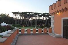 Castello Borghese surround by umbrella pines and wonderful sea views ! Wondeful wedding venue near Rome in Italy!