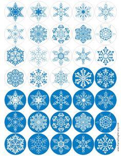 Snowflake Tag Printable