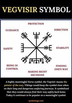 Viking Symbols And Meanings, Rune Symbols, Mayan Symbols, Egyptian Symbols, Ancient Symbols, Viking Tattoo Sleeve, Viking Tattoos, Viking Tattoo Symbols, Viking Compass Tattoo