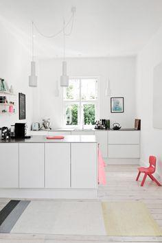 A white kitchen in Copenhagen