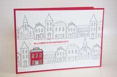 Willkommenskarte zum Einzug mit dem Set Stadt, Land, Gruß von Stampin' Up!
