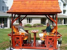 Picture of Deluxe Gazebo Garden Swing