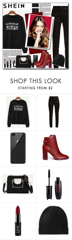 """""""Shein Truth"""" by polybaby ❤ liked on Polyvore featuring Yves Saint Laurent, Mercedes Castillo, NYX and Madeleine Thompson"""