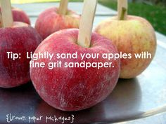 I wish I had seen this before I made my caramel apples the other day.  I guess I will have to try this next time!