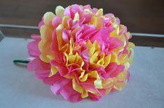 Cómo hacer una flor con papel de seda