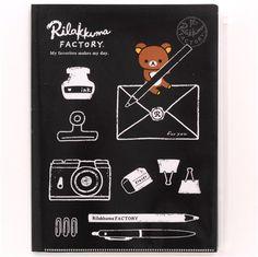 black Rilakkuma Factory bear pen envelope 6-pocket A4 / A3 file folder 1