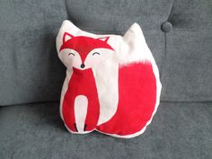 Little Mr Fox cushion Hand Painted  Coussin petit by CCushions
