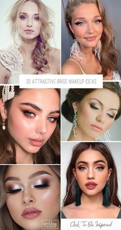 30 Attractive Bride Makeup Ideas ♥ For each bride makeup is a large quantity of different variations. Be inspired by ideas and save photos you like to show the makeup artist. #wedding #makeup #weddingforward #bride #weddingbeauty #WeddingMakeup