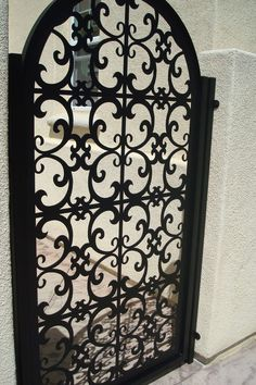 Italian Metal Gate Custom Pedestrian Walk Entry Garden Iron Art Iron Made in USA #DaVinciGate