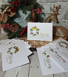 Hi guys   Yes, I still have Christmas cards to share!   This is another batch I mass produced when I realised I had nowhere near the number ...