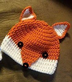 Fox Beanie Wald Animal Beanie Mütze häkeln von TinasCraftyCreation