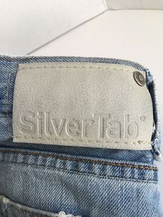 Men's Levi's SilverTab Baggy Denim Skate Punk Ragged Edges Jeans W36 L30  #LevisSilvertab #BaggyLoose