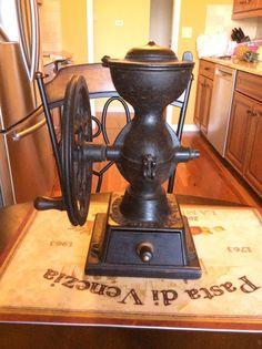 "Antique Enterprise No 1 Cast Iron Coffee Grinder Mill 12 1/2"" High Patent 1873"