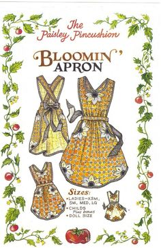 The Bloomin' Apron Pattern by Paisley Pincushion. $9.50, via Etsy.