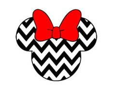 minnie mouse chevron svg dxf jpeg png file instant download stencil monogram frame silhouette cameo cricut clip art