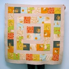 Interesting!  And you could make a rectangular quilt by starting with 6 or 8 squares inside instead of 4!