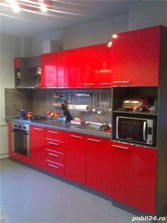 Anunturi Mobila la comanda Mobila bucatarie Dory, Kitchen Interior, Interior Ideas, Contemporary Design, Kitchen Ideas, Kitchen Cabinets, Spaces, House, Furniture