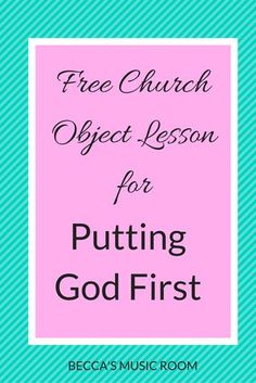Fun object lesson about putting God first in our lives. Great for children's church, sunday school, and youth group. All you need is a banana!