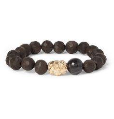 Luis Morais Ebony and Multi Skull Gold Bead Bracelet | MR PORTER