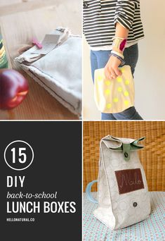 15 Back-to-School DIY Lunch Boxes and Bags   http://hellonatural.co/15-diy-lunch-boxes/