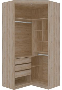 Guarda-Roupa Canto Closet Virtual 2 Portas Com Espelho E Gavetas Cedro Robel en 2020 Corner Wardrobe Closet, Small Bedroom Wardrobe, Wardrobe Room, Bedroom Closet Design, Home Room Design, Closet Designs, Bedroom Cupboard Designs, Bedroom Cupboards, Closet Layout