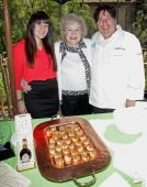 LOS ANGELES, CA - JUNE 07:  Betty White poses with chefs catering feast for the Beastly Ball