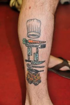slow down and savor: Tattoos in the Kitchen - Tools of the Trade