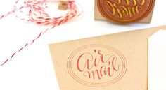 Airmail+Rubber+Stamp+by+plurabelle+on+Etsy,+$18.00