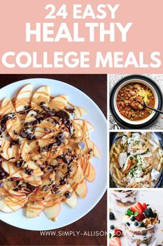 Healthy College Snacks, Easy College Meals, Best College Food, College Recipes, College Life, Easy Meals, Cheap Vegetarian Meals, Vegetarian Options, Healthy Recipes On A Budget