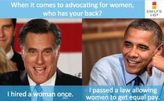 I believe there were laws in place REQUIRING Mitt to hire a woman.