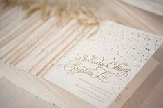 Confetti Wedding Programs Bella Figura via Francis Orr Chenin Boutwell Wedding Stationery Inspiration: Confetti