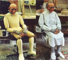 """Life Size Puppet   Before / After - """"Scared Punch"""""""