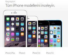 iPhone 6 Diğer Modellerle iPhone 5S 5C Karşılaştırma