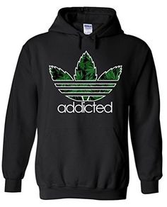 Addicted Leaf Hoodie Weed Sweatshirts Fashion | Sweater | Shirt | Top | T-Shirt | Hoodie | Sweatshirt | TShirt | Tee | Tunic | Vest | Blouse | Marijuana | Cannabis | Clothing | Clothes | Weed