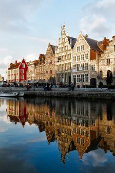 Gante #Bélgica, a los niños les encantarán esas casas de cuento
