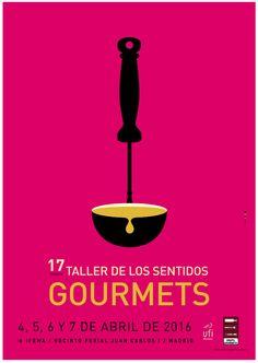 Cartel Taller de Los Sentidos Gourmets 2016. #gaviradis @GrupoGourmets @SalondeGourmets