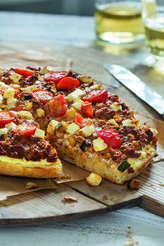 Knusprige Fladenbrotpizza