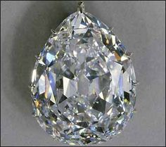 This is the largest flawless cut diamond in the world and weighs 530 carats. This and the Second Star of Africa of 317 carats (in the Imperial State Crown) were cut from the celebrated Cullinan Diamond, the largest diamond ever found. Weighing over 3,000 carats, the Cullinan was given to King Edward VII by the Government of the Transvaal (South Africa) in 1907.