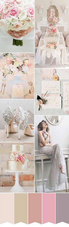 Ladylike Luxe - Soft Pink and Sparkle   Glam Wedding Inspiration   www.onefabday.com