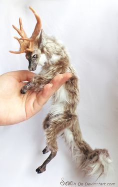 Nostaw the Fawnling OOAK Posable Art Doll