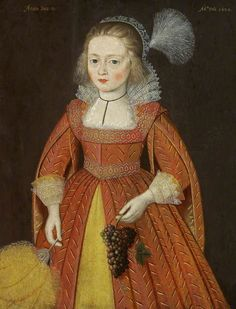 Portrait of a Young Girl of the Morgan Family, Aged 9 1620
