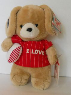 """Applause P.J. Puppy 1987 Personalize Plush Stuffed Dog 21106 Christmas Toy 12"""" #Applause"""