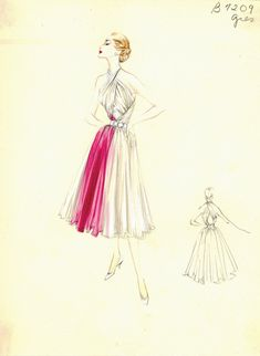 Осторожно! В посте почти сотня эскизов от таких модных домов как Hardy Amies, Balenciaga, Balmain, Pierre Cardin, Dior, Schiaparelli, Fabiani, Lanvin и других. Коллекция эскизов нью-йоркского универмага Bergdorf Goodman, эти платья были доступны клиентам Bergdorf's Custom Salon с 1950 по 1969…