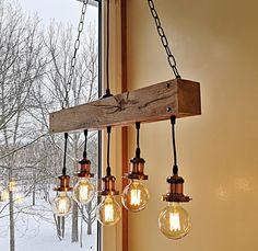 Wood Pendant Light, Industrial Pendant Lights, Led Pendant Lights, Pendant Lamp, Rustic Light Fixtures, Hanging Light Fixtures, Hanging Lights, Dining Lighting, Farmhouse Lighting