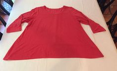 New EILEEN FISHER ORGANIC LINEN Coral Pink Tunic Shirt Top LAGENLOOK WOMENS XL #EileenFisher #Tunic #Versatile #linen #lagenlook #oversize #shirt