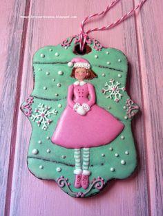 N.M. Galletas Artesanas: Navidad en rosa y menta