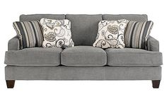 Mix styles- modern couch in a country room    Ashley Couch - Yvette - Steel
