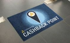 Custom floor mats give a warm welcome to your business right off the first step 👌 Call us today to hear about all our options and price packages 😊 Business Printing, Print Logo, Store Fronts, Floor Mats, Drink Sleeves, Vancouver, Printing On Fabric, North America, Toronto