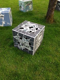 Spændende mosaik arbejder fra Pernille Hølledig